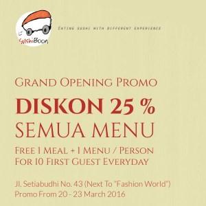 Opening Promo di Sushi Boon Jl. Setiabudi 43, Bandung