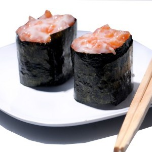 Salmon Salad Gunkan